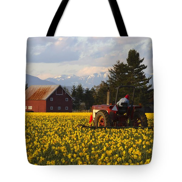Working Gold Tote Bag by Mike  Dawson