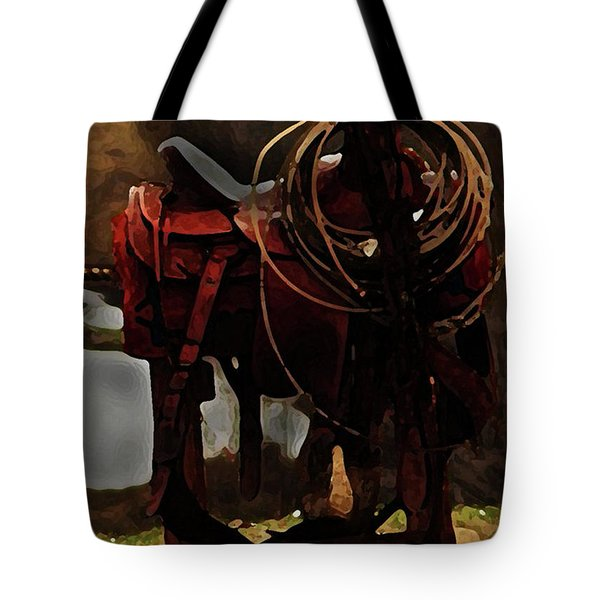 Working Man's Saddle Tote Bag