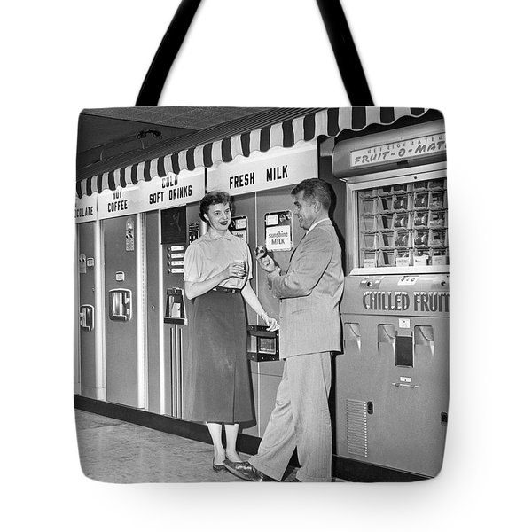 Workplace Snack Break Tote Bag by Underwood Archives