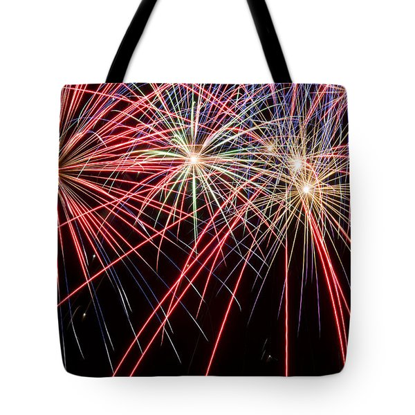 Works Of Fire II Tote Bag by Ricky Barnard