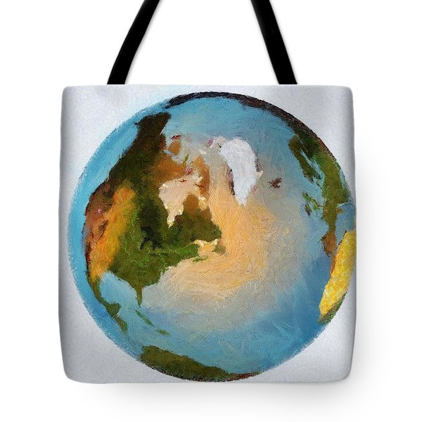World 3d Globe Tote Bag by Georgi Dimitrov
