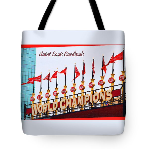 World Champions Flags Tote Bag by John Freidenberg