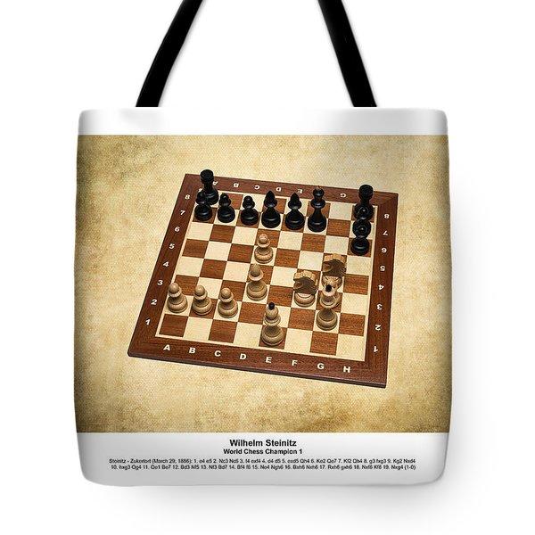 World Chess Champions - Wilhelm Steinitz - 1 Tote Bag by Alexander Senin