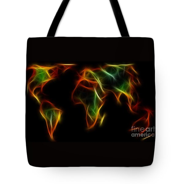 World Impressions - Abstract World Tote Bag by Kaye Menner