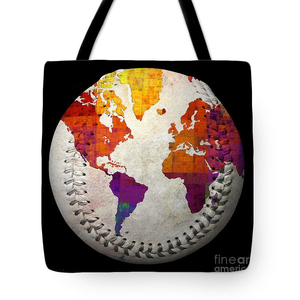 World Map - Rainbow Bliss Baseball Square Tote Bag