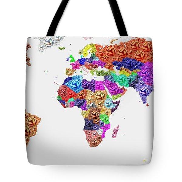 World Map - Soccer Football 2014 Tote Bag