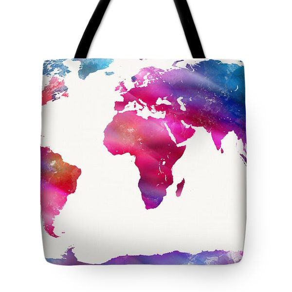 World Map Light  Tote Bag by Mike Maher
