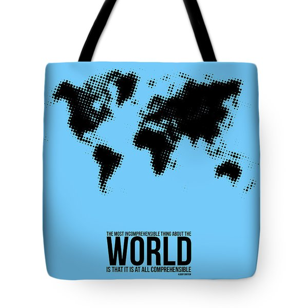 World Map Poster Tote Bag by Naxart Studio