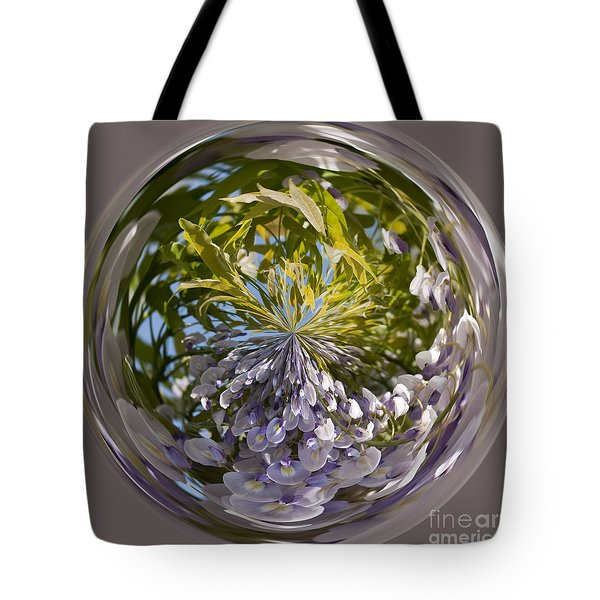 World Of Wisteria Tote Bag by Anne Gilbert