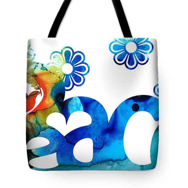 World Peace 3 - Loving Art Tote Bag by Sharon Cummings