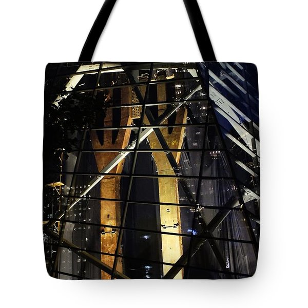 World Trade Center Museum At Night Tote Bag