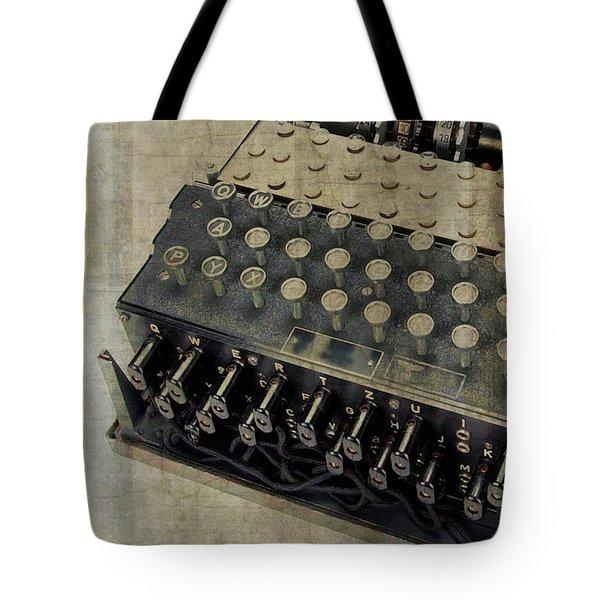 World War II Enigma Secret Code Machine Tote Bag