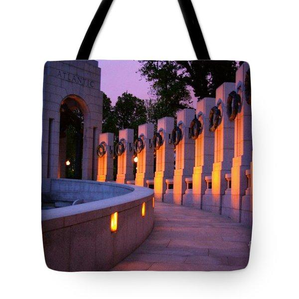 Tote Bag featuring the photograph World War II Memorial Washington Dc by John S