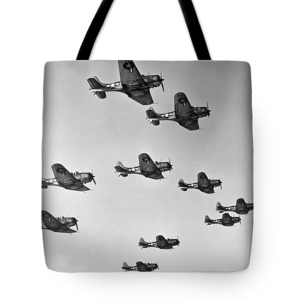 World War II - U.s. Bombers Tote Bag
