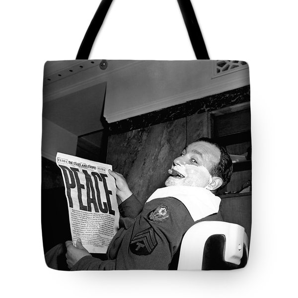 World War Two Ends Tote Bag
