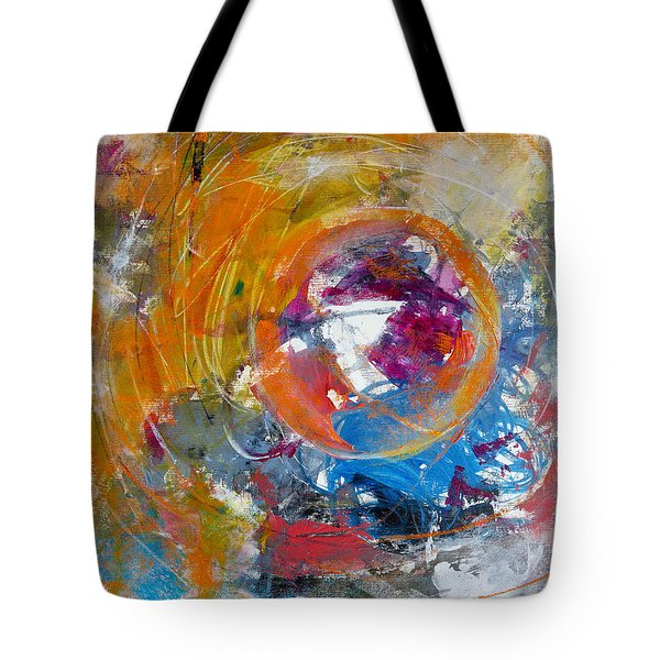 Tote Bag featuring the painting Worldly  by Katie Black