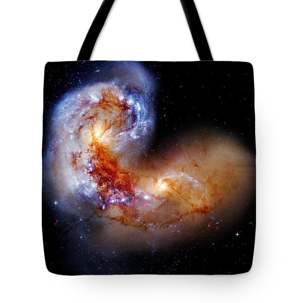 Worlds Collide Tote Bag by Benjamin Yeager