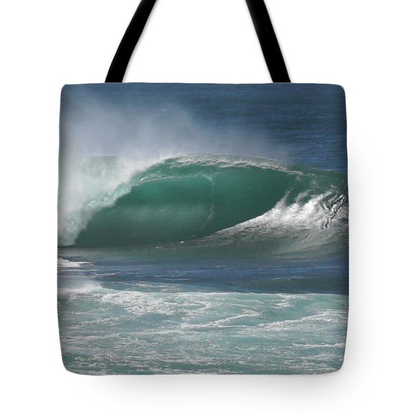 World's Most Perfect Wave . . . Tote Bag by Kevin Smith