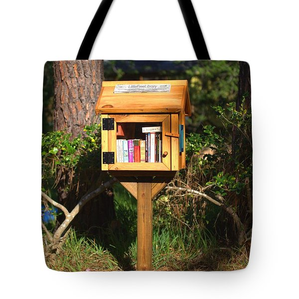 Tote Bag featuring the photograph World's Smallest Library by Gordon Elwell