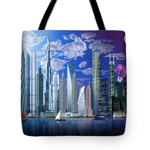 Worlds Tallest Buildings Tote Bag