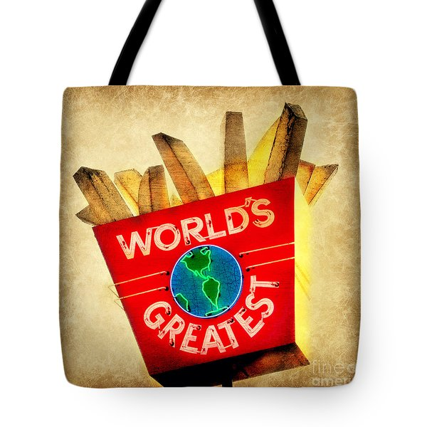 World's Greatest Fries Tote Bag