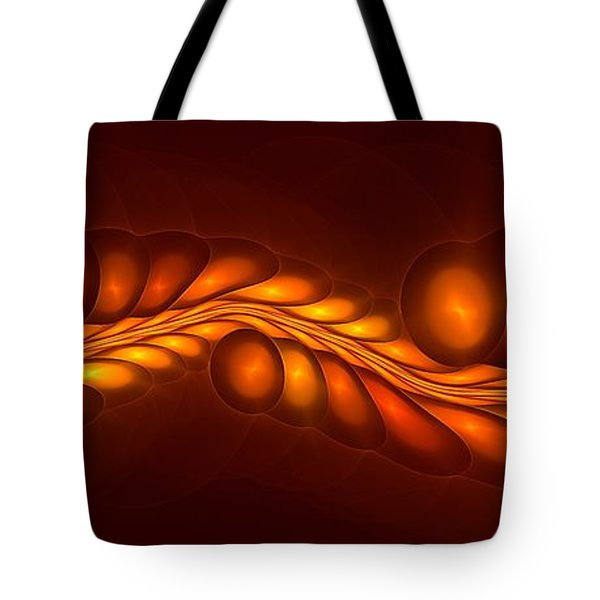 Worm Sign Orange Tote Bag