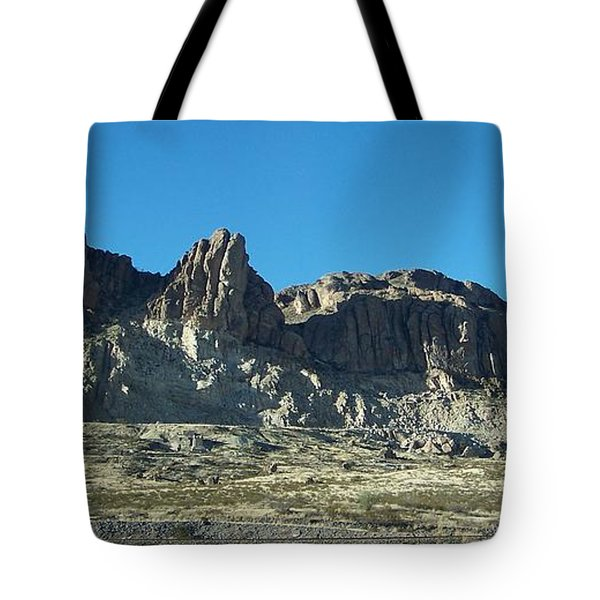 Tote Bag featuring the photograph Western Landscape by Eunice Miller