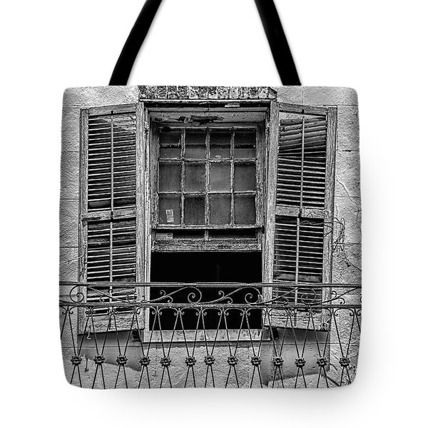 Worn Window - Bw Tote Bag by Christopher Holmes