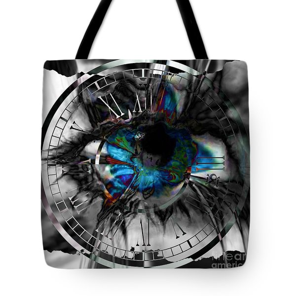 Worry The Clock Tote Bag by Elizabeth McTaggart