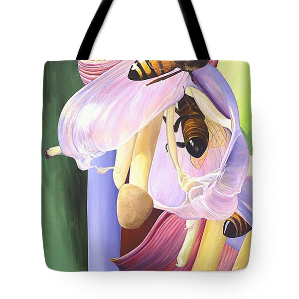 Tote Bag featuring the painting Wounded by AnnaJo Vahle