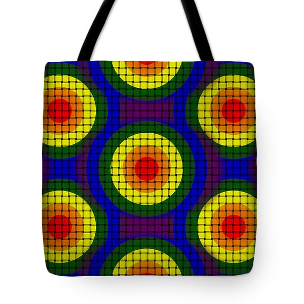Woven Circles Tote Bag by Bartz Johnson