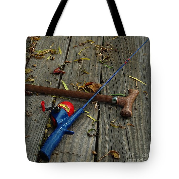 Wrapped In Time Tote Bag by Peter Piatt