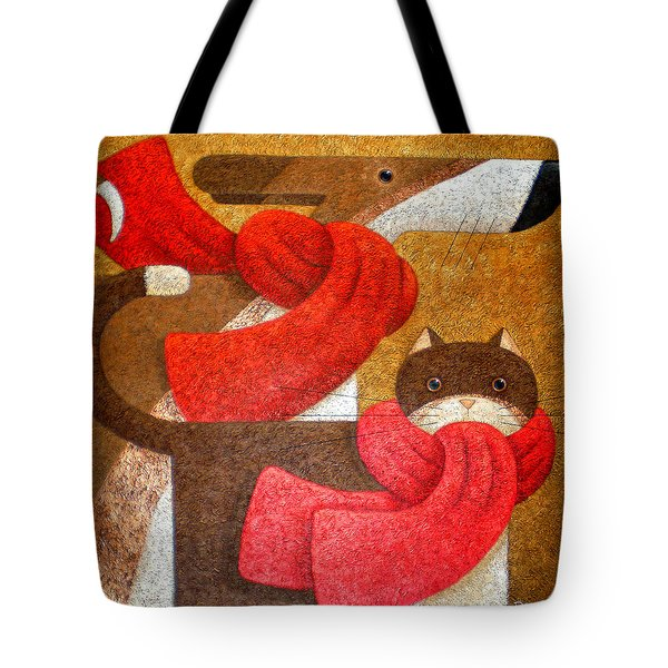 Wrapped Up In Scarfs Tote Bag