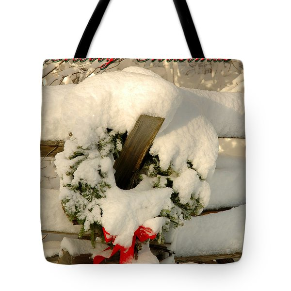 Tote Bag featuring the photograph Wreath  by Alana Ranney
