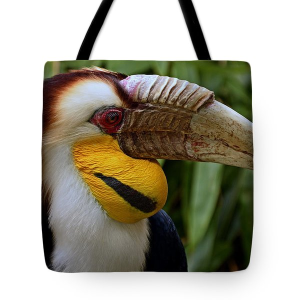 Wreathed Hornbill Tote Bag by Eric Albright