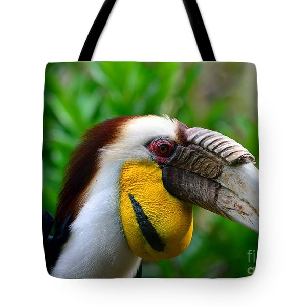 Tote Bag featuring the photograph Wreathed Hornbill by Lisa L Silva