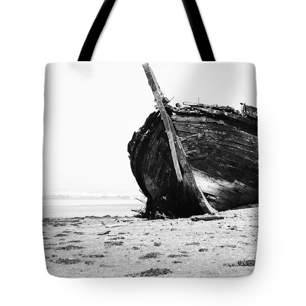 Wreckage On The Bay Tote Bag by Marco Oliveira