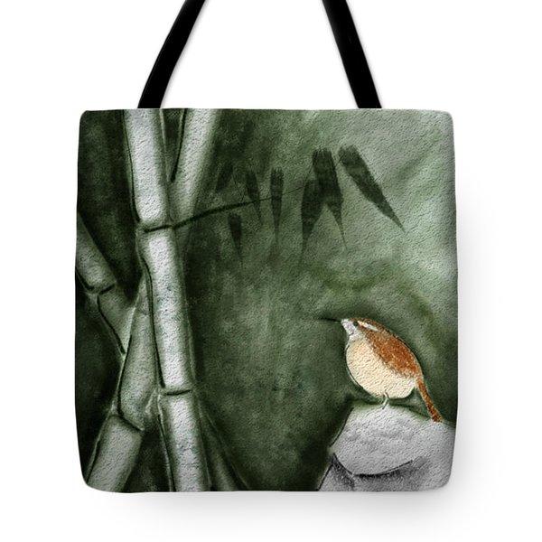 Wren In Bamboo Tote Bag
