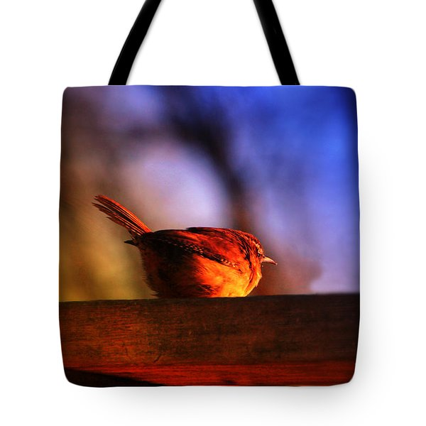 Wren In Early Morning's Light - Featured In In Newbies-nature Wildlife- Comfortable Art Groups Tote Bag by EricaMaxine  Price