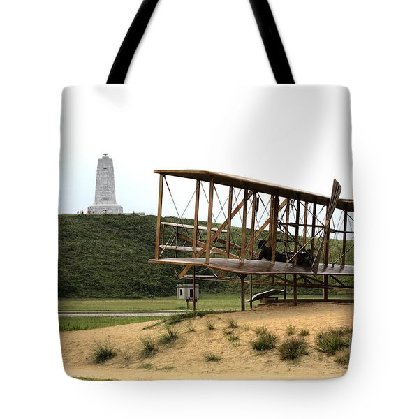 Wright Brothers Memorial At Kitty Hawk Tote Bag
