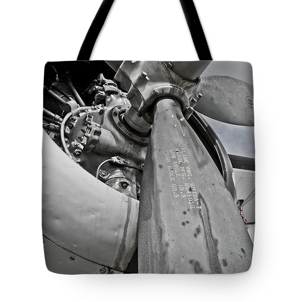 Wright R-1820-82 Cyclone Tote Bag by Charles Dobbs