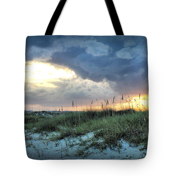 Wrightsville Beach South End Sunset Tote Bag