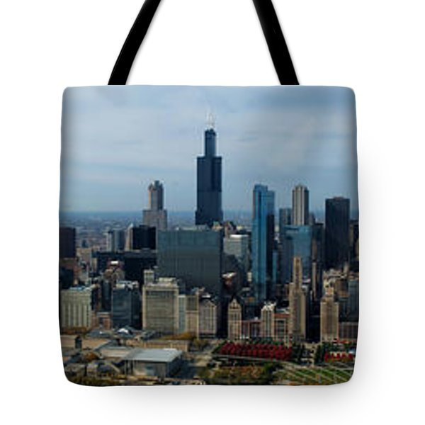 Wrigley And Us Cellular Fields Chicago Baseball Parks 3 Panel Composite 01 Tote Bag by Thomas Woolworth