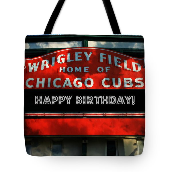 Wrigley Field -- Happy Birthday Tote Bag