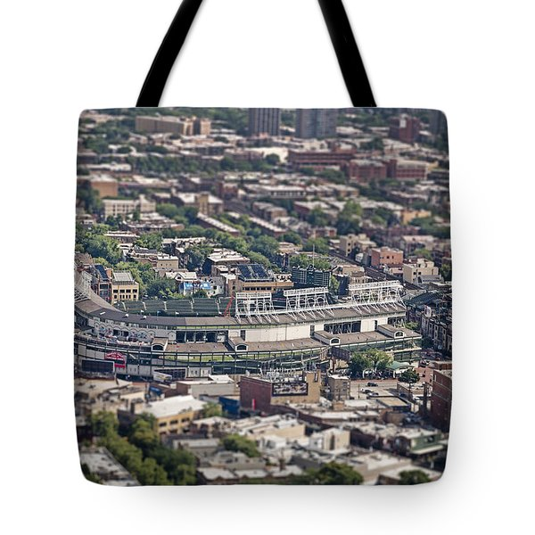 Wrigley Field - Home Of The Chicago Cubs Tote Bag by Adam Romanowicz