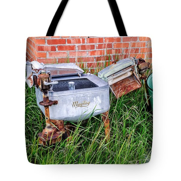 Wringer Washer And Laundry Tub Tote Bag
