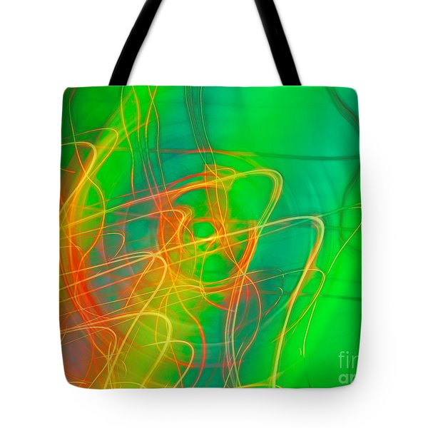 Write Light Rainbow Tote Bag