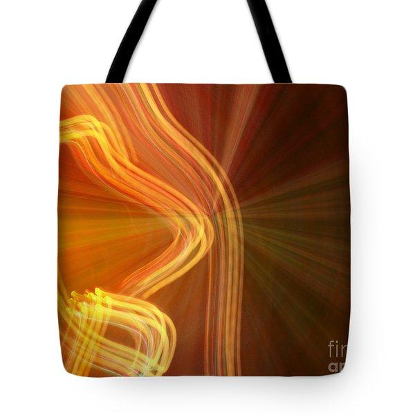 Write Light Shapes Tote Bag
