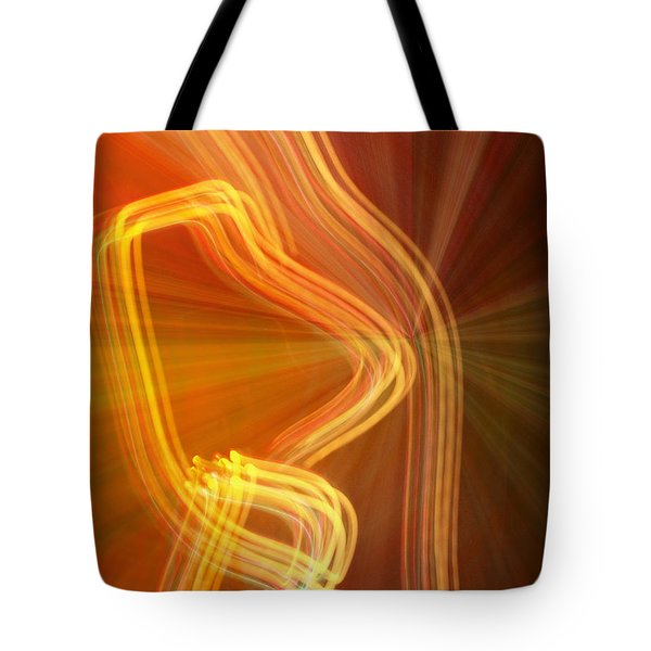 Write Light Shapes Tote Bag