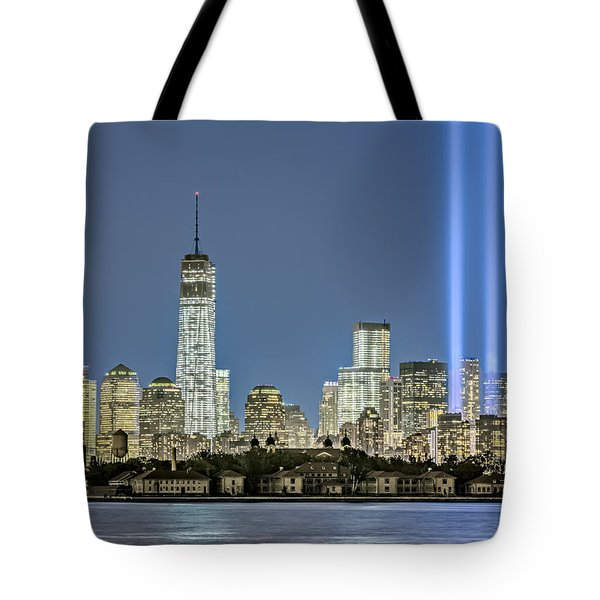 Wtc Tribute In Lights Tote Bag